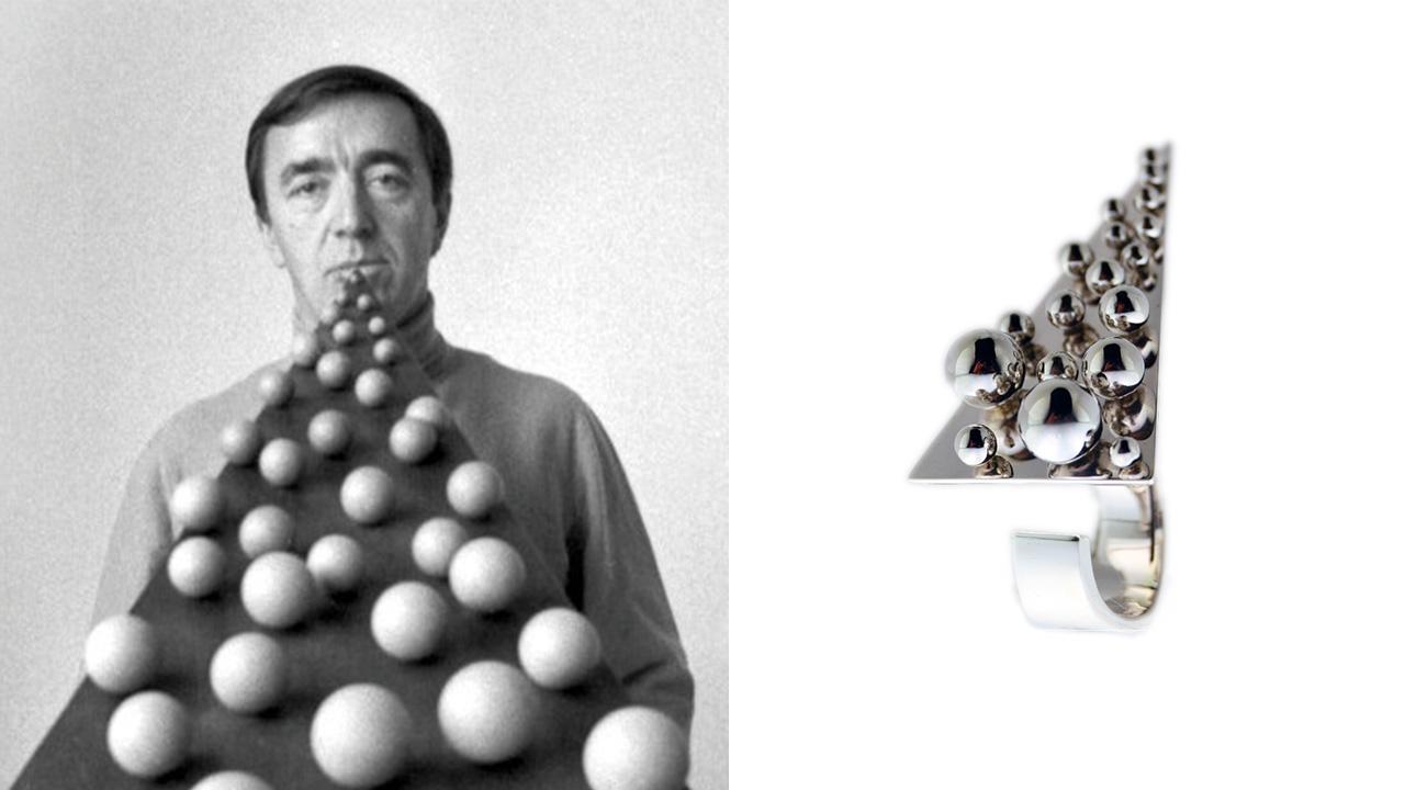 Pol Bury | opera d'arte e gioiello d'artista Marylart