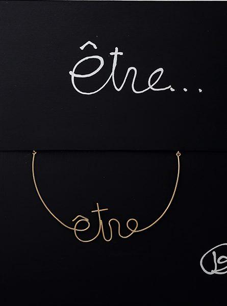 """Ben Vautier: Collana in Oro """"Etre"""" per Marylart"""