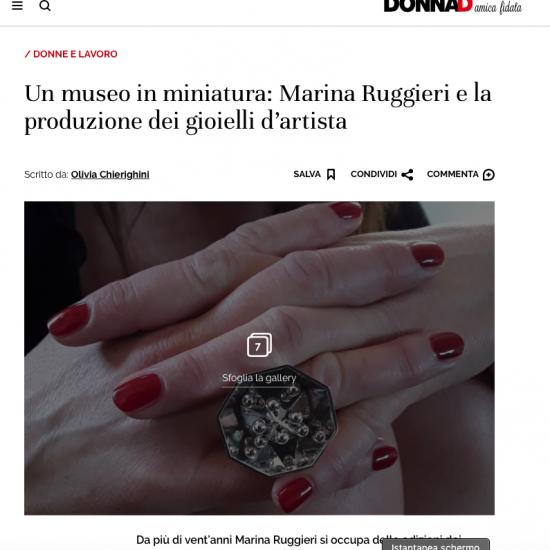 intervista Marina Ruggieri su DonnaD