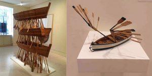 Kcho sculture con barche