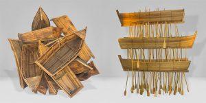 Kcho sculture barche e canoe