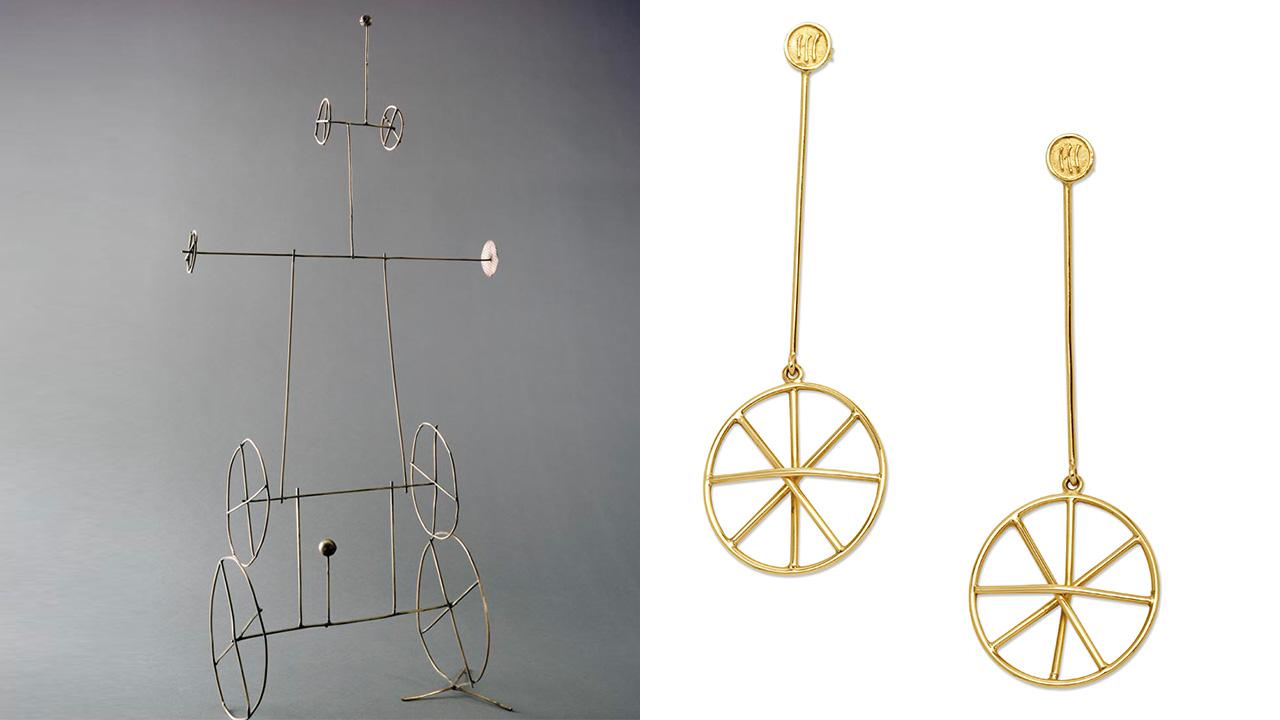 Fausto Melotti | Scultura ruote e Orecchini Ruote per Marylart