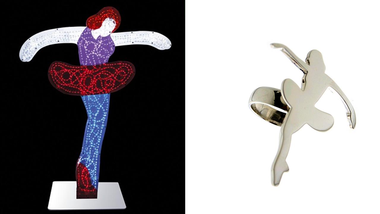 Marco Lodola | pop art ballerine e gioielli d'artista