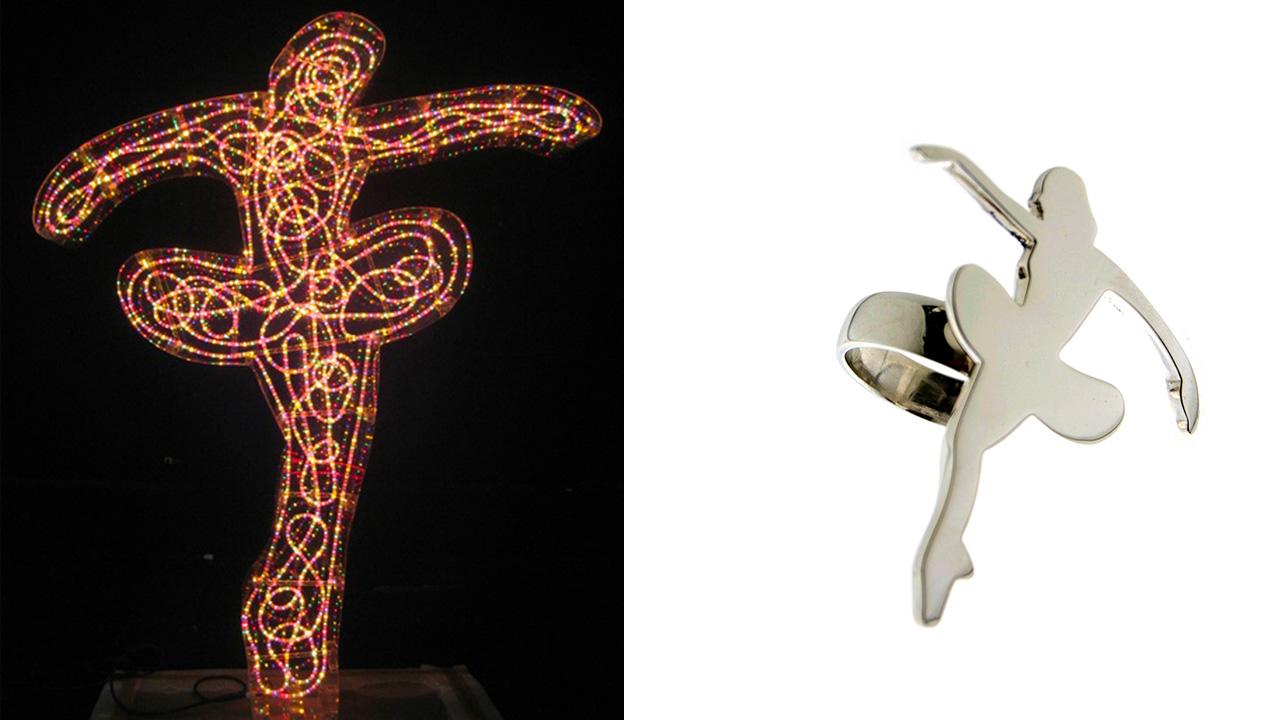 Marco Lodola | scultura ballerine e gioielli d'artista